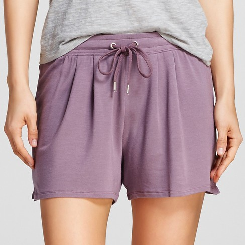 Women's Pajama Shorts Soft French Terry Plum Wink - Gilligan & O'Malley™ - image 1 of 2