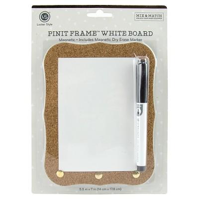 Locker Style™ Dry Erase Board - Pin-it Cork Frame™