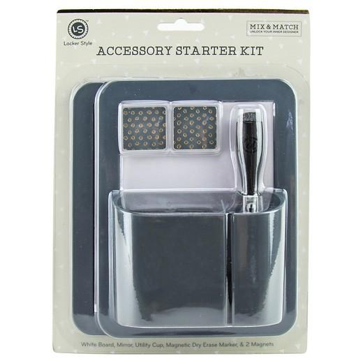 Locker Style Decoration Accessory Kit Gray
