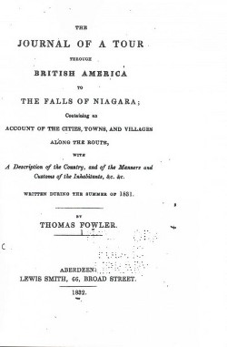 Journal of a Tour Through British America to the Falls of Niagara (Paperback) (Thomas Fowler)