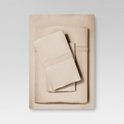Organic Cotton Sheet Set (Queen)Brown Linen - Threshold™