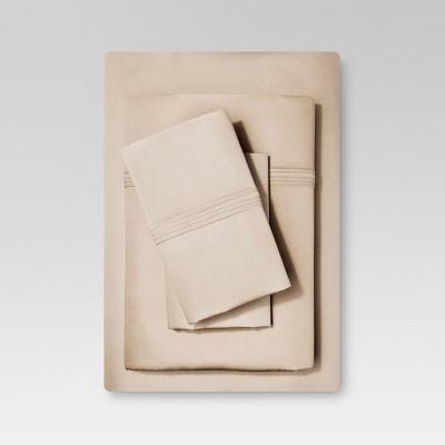 Organic Cotton Sheet Set (King)Brown Linen - Threshold™