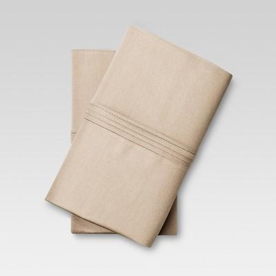 Organic Cotton Pillowcase Set (King)Brown Linen - Threshold™