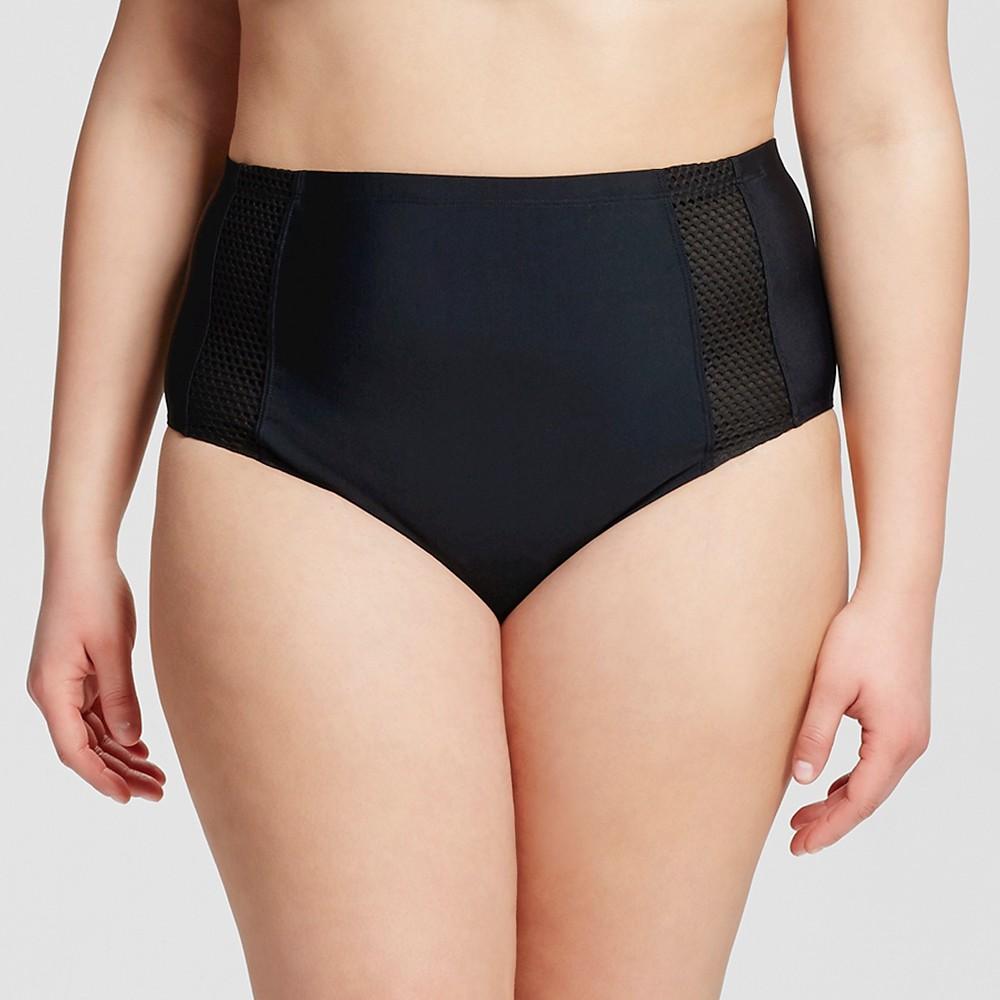 Women's Plus Size Bikini Swim Bottoms Mocha Black 3X – Costa Del Sol, Brown