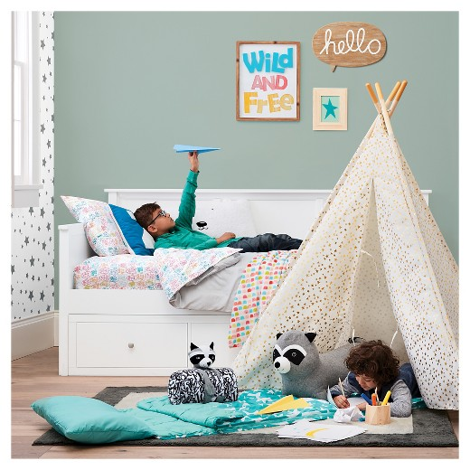 finn twin kids day bed white - pillowfort™ : target