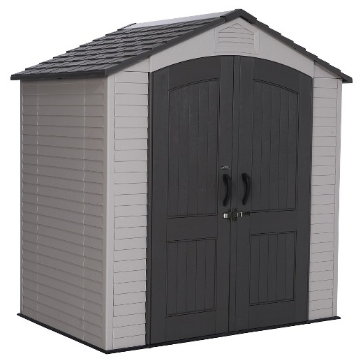 Outdoor storage shed 7 39 x 4 5 39 desert sand lifetime for Garden shed 5 x 4