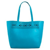 Women's Faux Leather Tote Handbag Perforated - Merona. opens in a new tab.