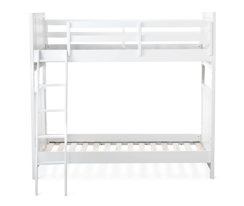 Finn Kids Bunk Twin/Twin Wood Bed (White)