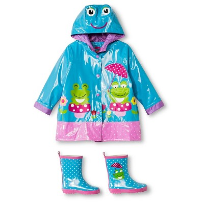 Toddler rain jacket and boots