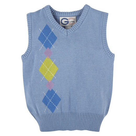 Toddler Boys' Argyle Sweater Vest - Light Blue 2T : Target