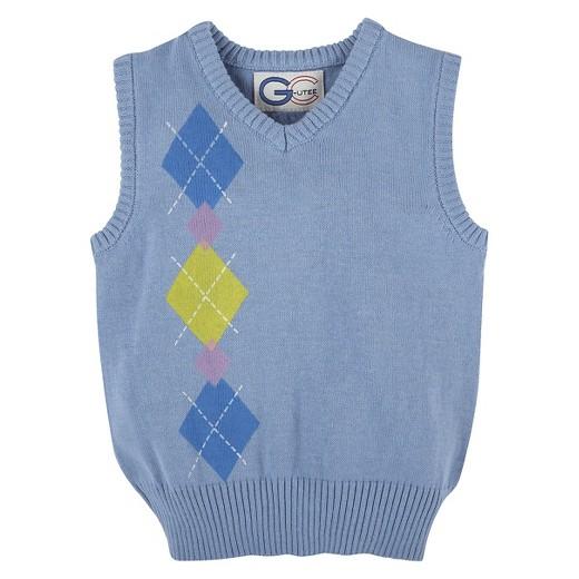 Boys' Argyle Sweater Vest - Light Blue : Target