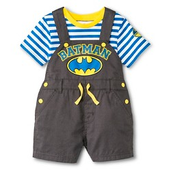 Baby Boys' Batman 2 Piece Romper Set - Gray