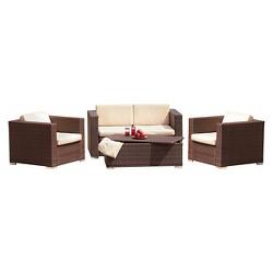 Murano 4pc Wicker Patio Sofa Set - Christopher Knight Home