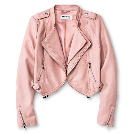 CoffeeShop Kids Girls' Faux Leather Jacket - Pink : Target