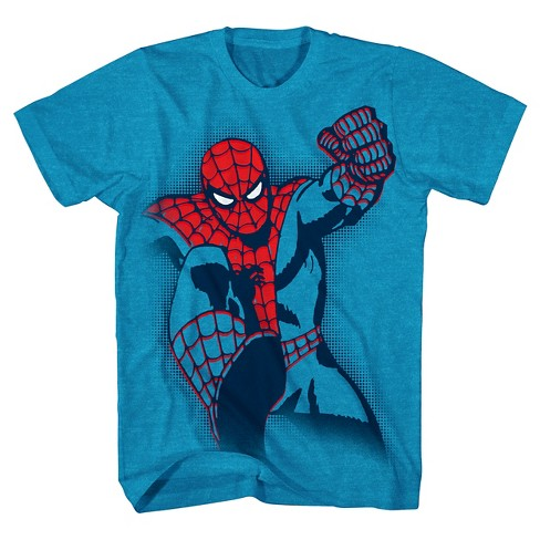 Boys' Marvel Spider-Man Graphic T-Shirt - Turquoise - image 1 of 1