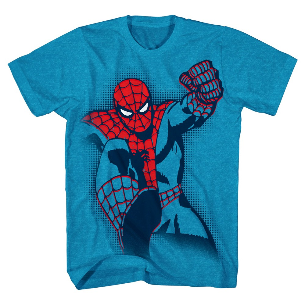 Boys' Marvel Spider-Man Graphic T-Shirt - Turquoise L, Blue