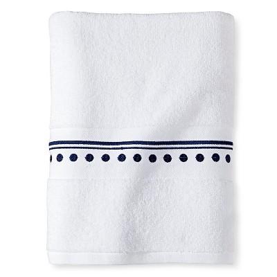 Cabana Bath Towel (30 x54 )Navy/White - Sabrina Soto