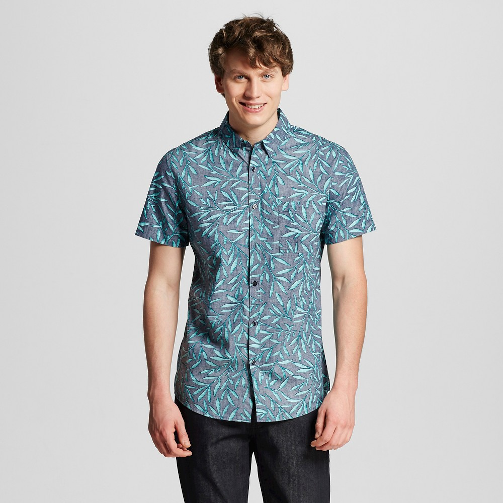 Mens Button Down Shirt Navy S - Mossimo, Blue