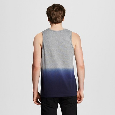 Men's Tank Top Navy Heather/Grey S - Mossimo, Size: XL, Blue Gray