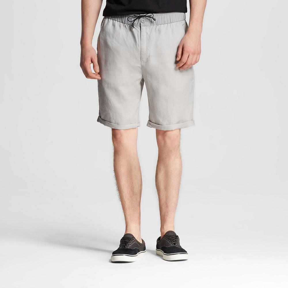 Mens Linen Shorts Gray L - Mossimo
