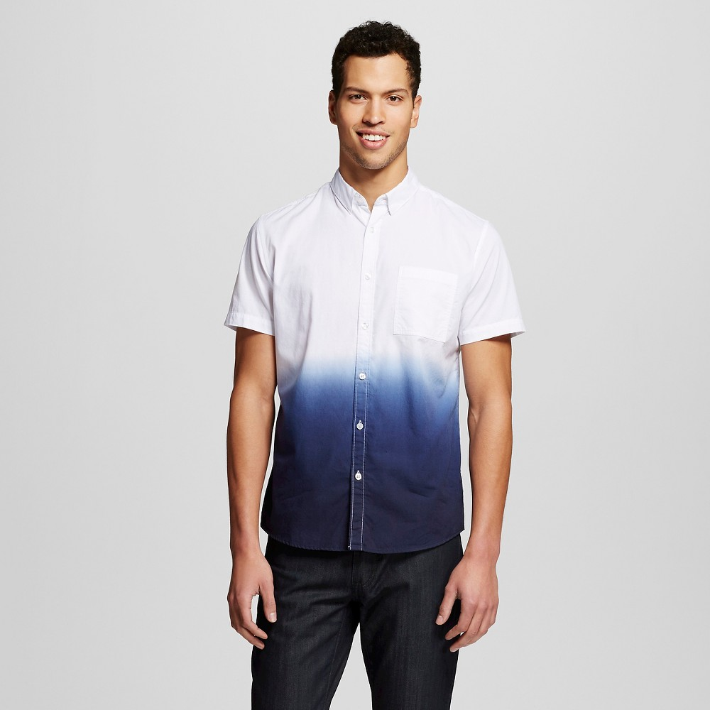 Mens Button Down Shirt Navy M - Mossimo, Blue