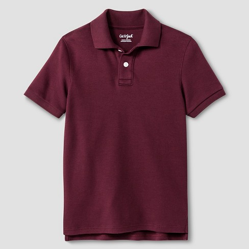 Boys 39 interlock polo shirt cat jack burgundy m target Burgundy polo shirt boys