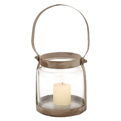 Stonebriar Rustic Bronze Metal Candle Lantern - CKK Home Decor