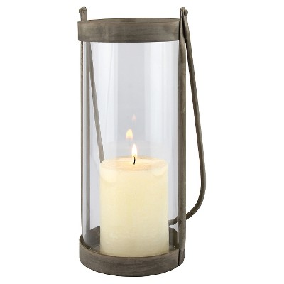 Stonebriar Rustic Bronze Metal Hurricane Candle Lantern - CKK Home Decor
