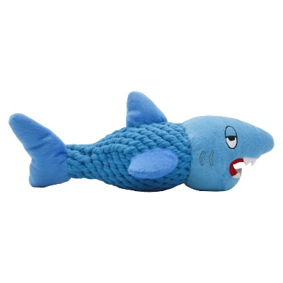 Rope Shark with Squeaker Pet Toy - Blue - Boots & Barkley™