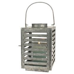 Stonebriar Farmhouse Galvanized Metal Candle Lantern - CKK Home Decor