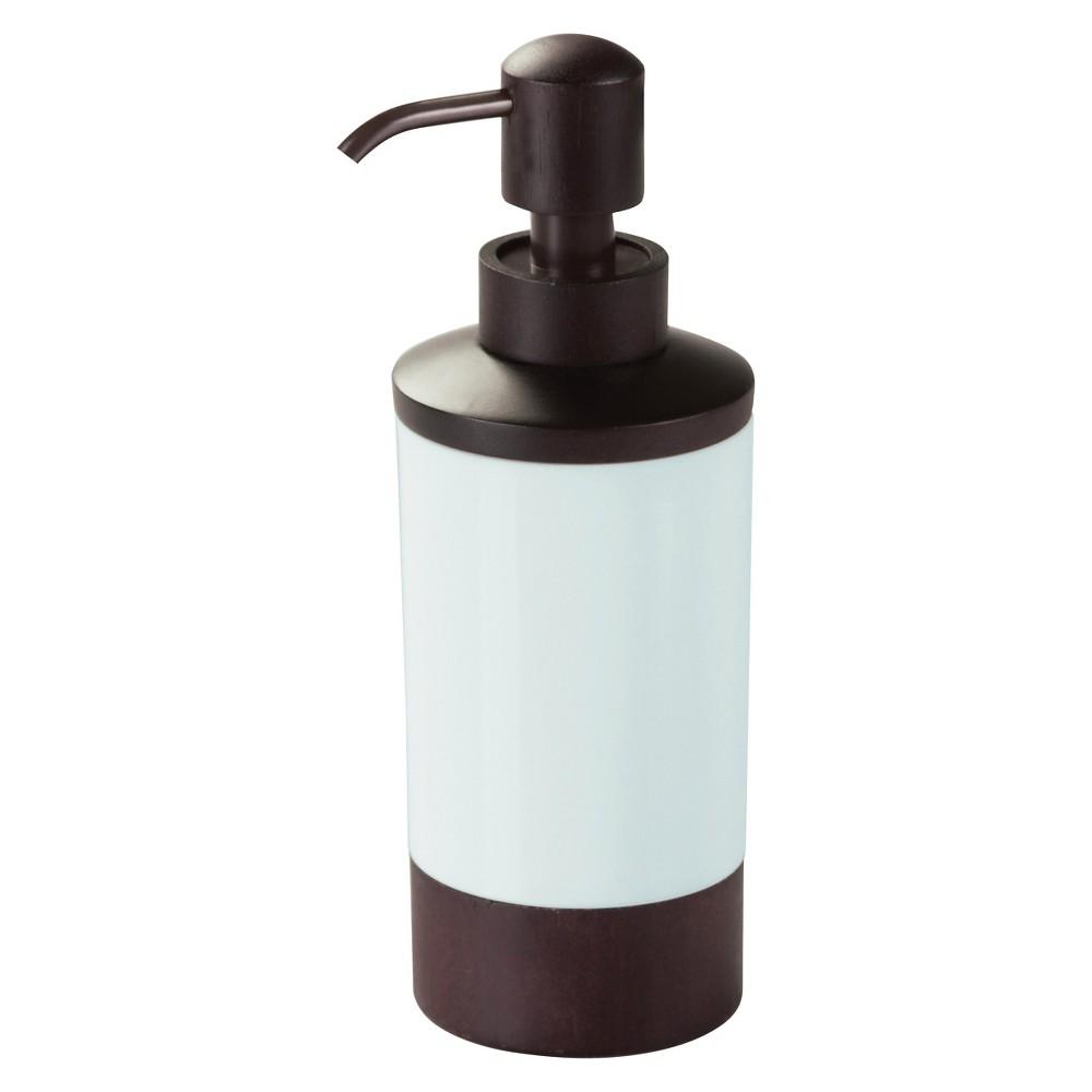 InterDesign Formbu Soap Pump Dispenser – White/Espresso (10 oz.)