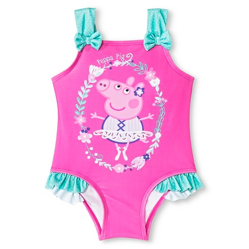 Toddler Girls' Peppa Pig One Piece Suit-Pink - image 1 of 2