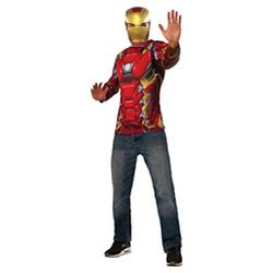 captain america civil war iron man adult costume top mask