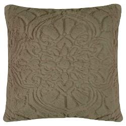 Throw Pillow Charlotte Plush Décor Faux Fur(18x18) Taupe Gray Vue Signature