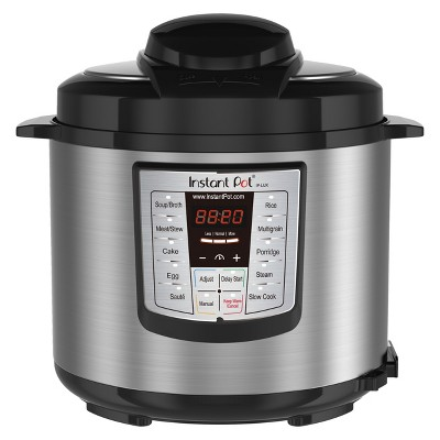 Instant Pot LUX60 V3 6-in-1 Multi-Use Programmable Pressure Cooker, 6qt | Stainless Steel