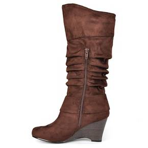 Women's Journee Collection Irene1 Slouch Wedge Knee-High Boots ...