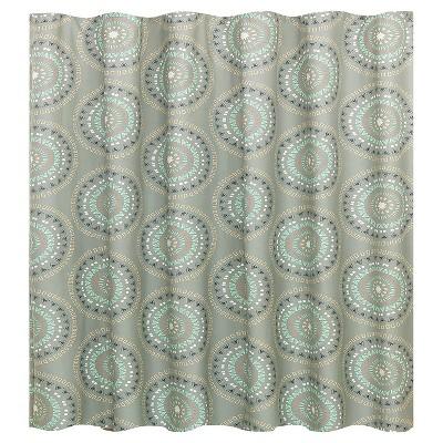 medallion shower curtain room essentials