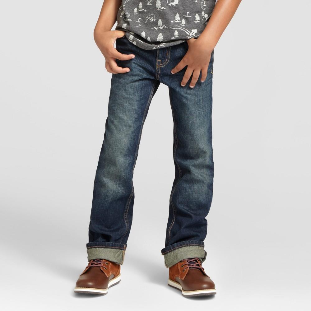Boys Bootcut Jeans - Cat & Jack Medium Wash 16, Blue