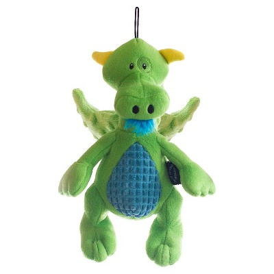 TrustyPup Dragon Plush Dog Toy - Green/Blue
