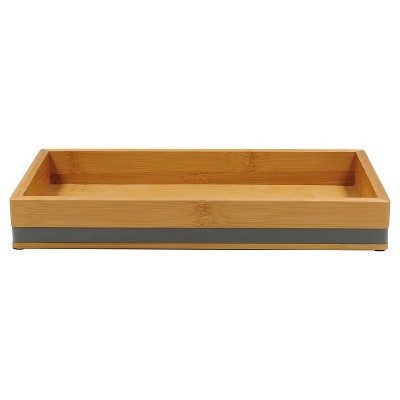 Soft Bamboo Tray Gray - Room Essentials™