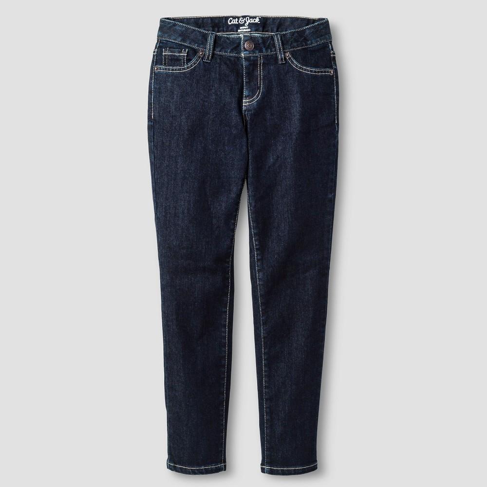 Plus Size Girls Skinny Jean - Cat & Jack Dark Wash 16 Plus, Blue