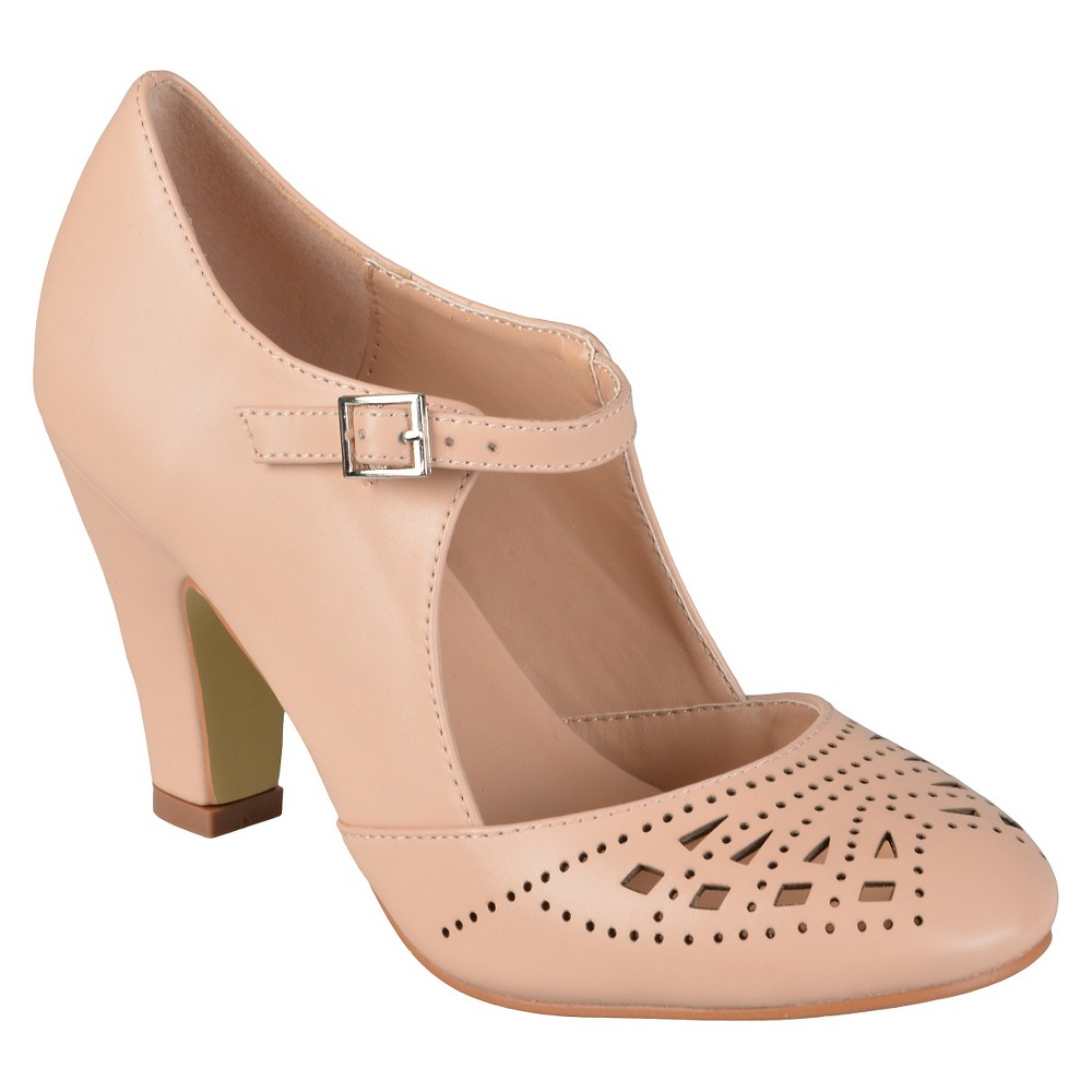 Womens Journee Collection Elsa Round Toe Cutout Mary Jane Pumps - Blush 8.5, Pale Blush