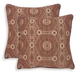 2pk Heston Chenille Medallion Throw Pillow - Essentials
