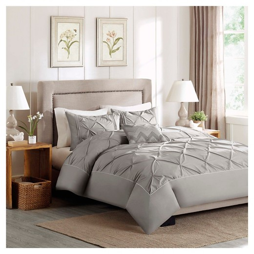 Zoey 4 Piece Cotton Percale Duvet Cover Set Target