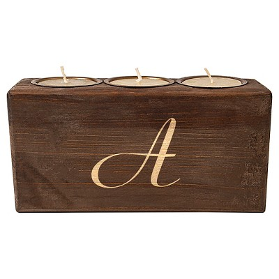 Monogram Rustic Head Table Candle Holder Bark A - Cathy's Concepts®