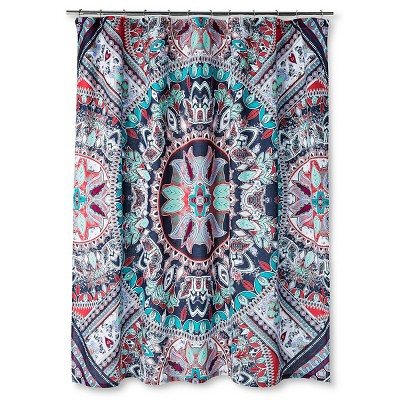 Beach Babe Shower Curtain (72 x72 )Blue/Green/Red - Boho Boutique®