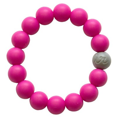 Itzy Ritzy Teething Happens™ Bead Bracelet Hot Pink