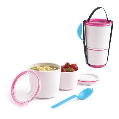 Black + Blum - Lunch Pot – Pink – 4.53 L x 4.53 W x 7.48 H