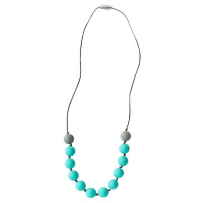 Itzy Ritzy Teething Happens™ Round Bead Petite Necklace - Turquoise