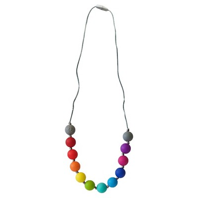 Itzy Ritzy Teething Happens™ Round Bead Petite Necklace - Rainbow